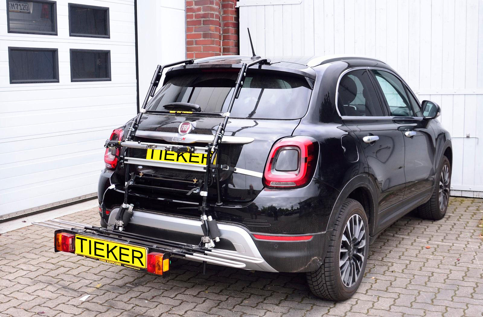 Fahrradträger Fiat 500 X - Heckfahrradträger Montage am Kofferraum ohne Anhängerkupplung